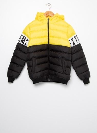 Limon Company Limon Düz Siyah - Sarı Erkek Çocuk Mont Siyah